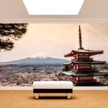La pagode de Fotomural Mont Fuji
