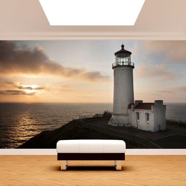 Côte Fotomural phare Washington