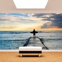 Fotomural Surf à la plage