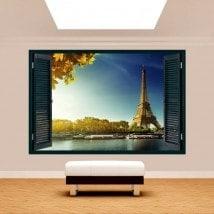 Fenêtre 3D Tour Eiffel Paris