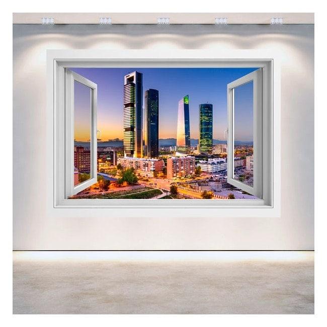 Windows 3D Madrid City financial