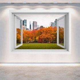 Windows 3D murs Central Park New York
