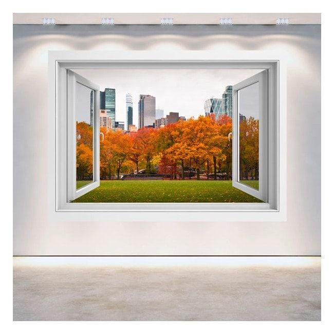 Windows 3d murs central park new york for Fenetre 3d windows 7