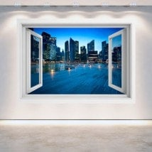 Ville de Singapour 3D Windows