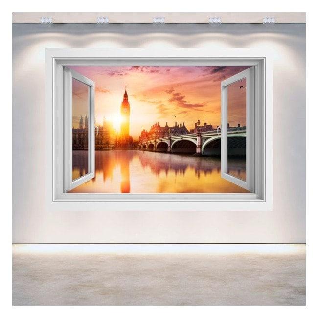 Coucher du soleil Big Ben Londres 3D de Windows