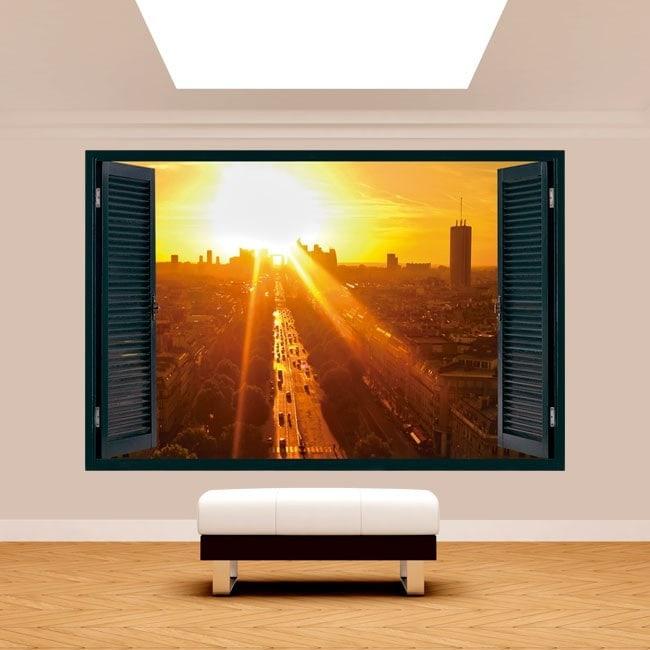 Paris 3D Windows pour le coucher du soleil