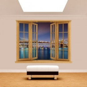 Pont 3D Windows de Brooklyn New York