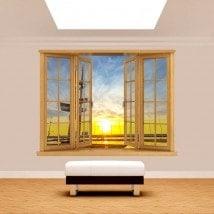 Windows 3D Gdinia en Pologne pour le coucher du soleil
