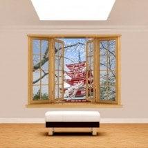 Windows 3D pagode Japon