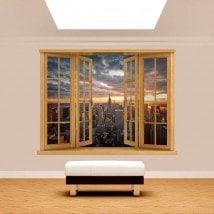 Coucher du soleil Manhattan 3D de Windows