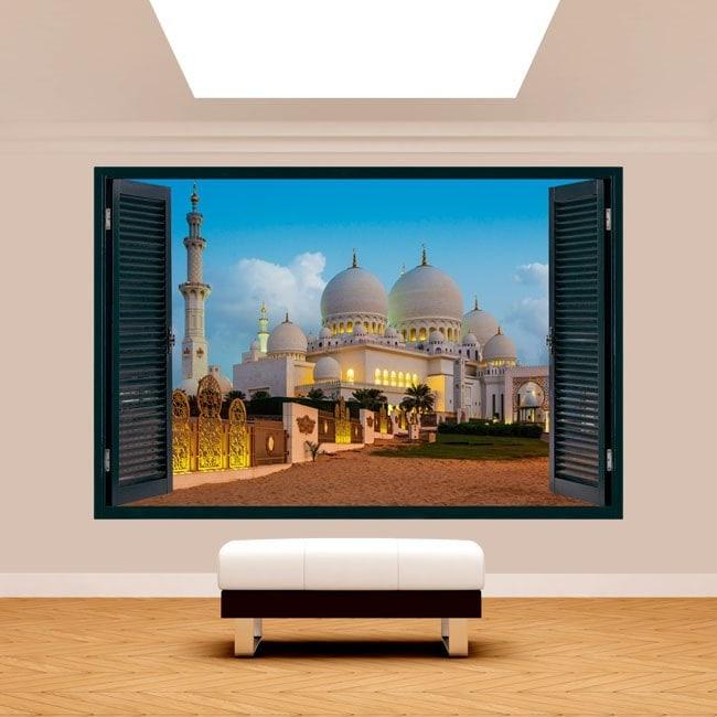 Mosquée de vinyle 3D Windows Sheikh Zayed