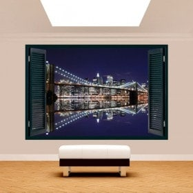 Windows 3D Manhattan Bridge Brooklyn