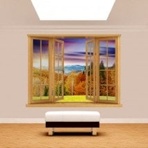 Montagnes de coucher de soleil 3D Windows