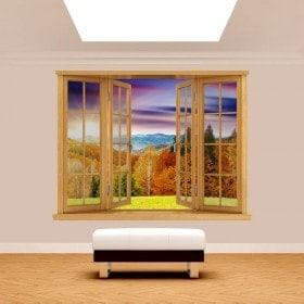 Montagnes de coucher de soleil 3D Windows