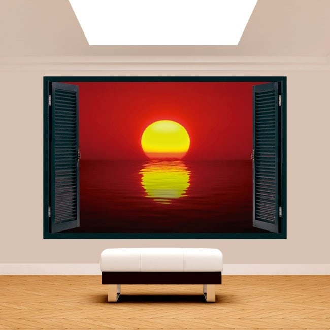 Windows 3D soleil coucher de soleil mer