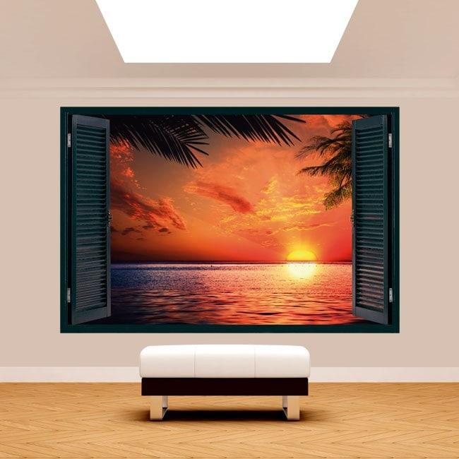 Windows 3D soleil Sunset Beach