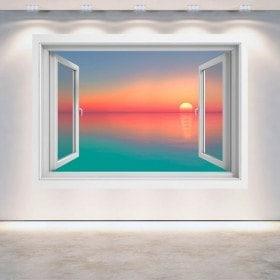 Couleurs du coucher du soleil 3D Windows