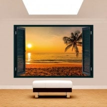 Palmier 3D Windows Sunset Beach