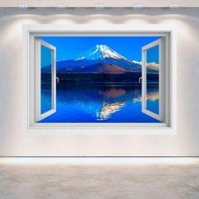 Fenêtre 3D Wall Mount Fuji