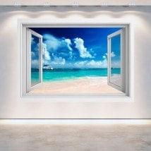 Fenêtre 3D plage