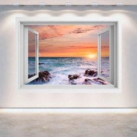 Windows 3D coucher de soleil sur la mer