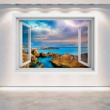 Rayons 3D Windows dans la mer