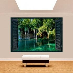 Windows 3D chutes d'eau dans la nature