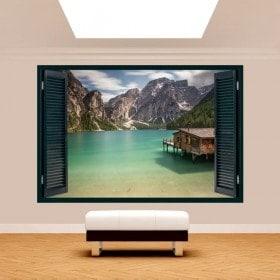 Windows 3D lac Braies Italie