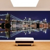 Peintures murales photo Manhattan Bridge Brooklyn