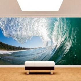 Vague de peintures murales pour le mur belle photo