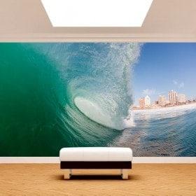 Peintures murales dans la vague photo
