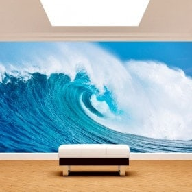 La grande vague des peintures murales mur photo mer
