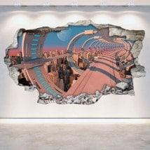 Vinyl mural brisé Sci-Fi 3D