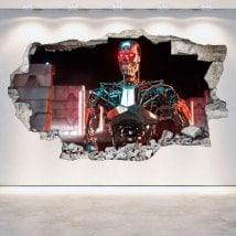 Vinyl mural cassé Genesis 3D de Terminator