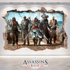 Vinyl 3D trou mur Assassin Creed