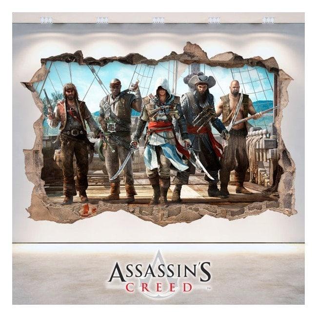 Vinyl 3D trou mur Assassin Creed