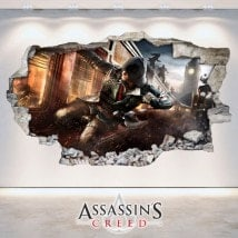 Mur de vinyle cassé 3D Assassin Creed
