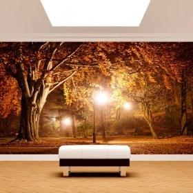 Photo mur murales arbres dans le parc