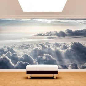 Fotomural nuages et des rayons du soleil