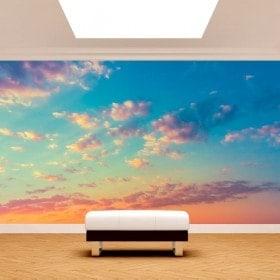 Photo mur murales nuages dans le ciel