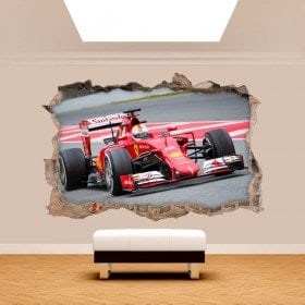 Mur de trou de vinyle 3D formule 1