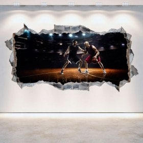 Vinyl mural basket-ball rotation 3D