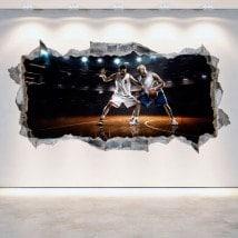 Vinyl mural rotatif basket 3D