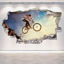 Trou de vinyle mur 3D BMX