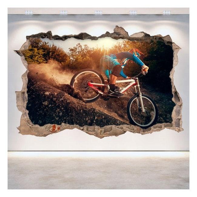 Vinyle de vélo de montagne 3D