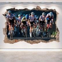 Vélo cassé 3D mur de vinyle