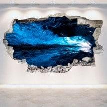 Vinyl mural brisé grottes 3D