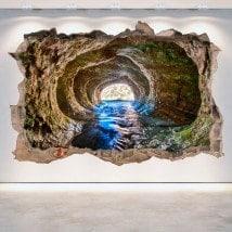 Trou caverne vinyle mural 3D