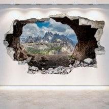 Grottes de vinyle 3D mur brisé