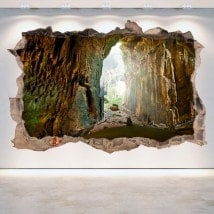 Grottes de vinyle décoratif mur brisé 3D
